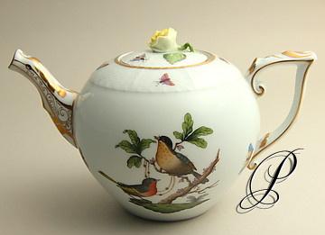 wundersch ne teekanne herend porzellan dekor rothschild porzellan porcelain. Black Bedroom Furniture Sets. Home Design Ideas