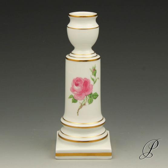 kerzenst nder meissen 1 wahl im dekor rote rose porzellan porcelain. Black Bedroom Furniture Sets. Home Design Ideas