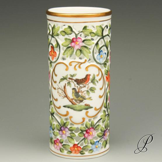 Seltene Herend Vase Im Dekor Rothschild Porzellan Porcelain