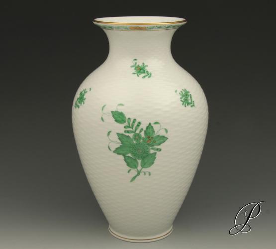 gro e vase herend apponyi gr n porzellan porcelain. Black Bedroom Furniture Sets. Home Design Ideas