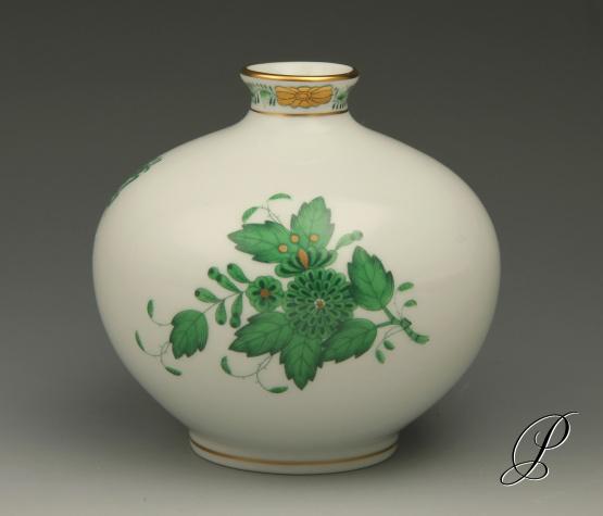 bauchige vase herend apponyi gr n porzellan porcelain. Black Bedroom Furniture Sets. Home Design Ideas