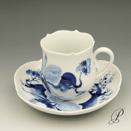 kaffeegedeck meissen nr 1 blaue orchidee auf ast von prof heinz werner porzellan porcelain. Black Bedroom Furniture Sets. Home Design Ideas