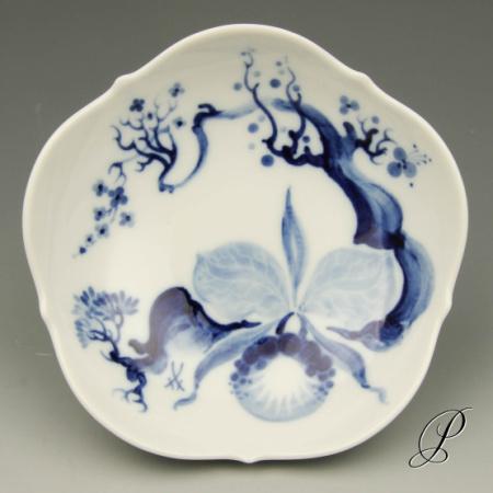 konfektschale meissen 1 wahl blaue orchidee auf ast von prof heinz werner porzellan porcelain. Black Bedroom Furniture Sets. Home Design Ideas