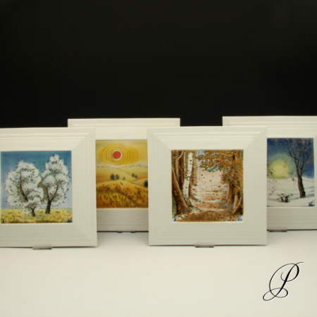 4 wandbilder meissen 1 wahl von professor heinz werner jahreszeiten porzellan porcelain. Black Bedroom Furniture Sets. Home Design Ideas